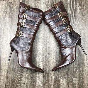 Michael Antonio Faux Leather Snakeskin Boots